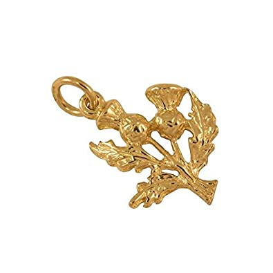 Sayers London 9ct Gold Thistle Charm 1q8S65f