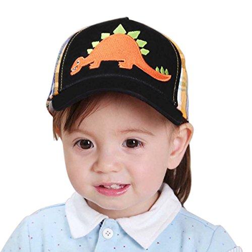 Kids Boys Girls Toddler Cute Baby Cartoon Plaid Embroidered Dinosaur Baseball Cap Sun Visors Hat S/M/L/XL (X)