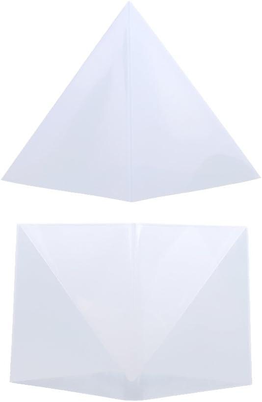 Gazechimp Molde Grande de Silicona de Joyería Diseño de Pirámide Arte de Resina Fabricación de Joyas15cm