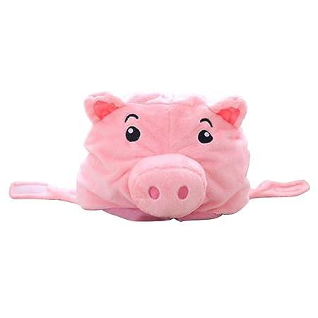 Amosfun - Sombrero de Peluche, diseño de Cerdo, para Disfraz de ...
