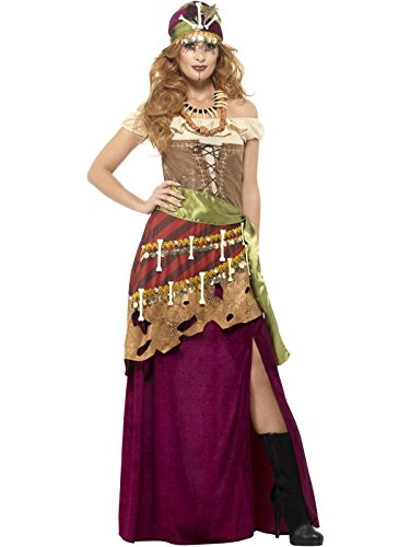 Smiffy's Women's Deluxe Voodoo Priestess Costume, Multi, Large -