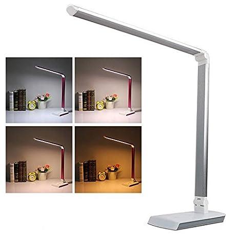 LED Tisch-Leuchte Schreibtisch-Lampe dimmbar 10W Leselampe Nachttisch Schwarz