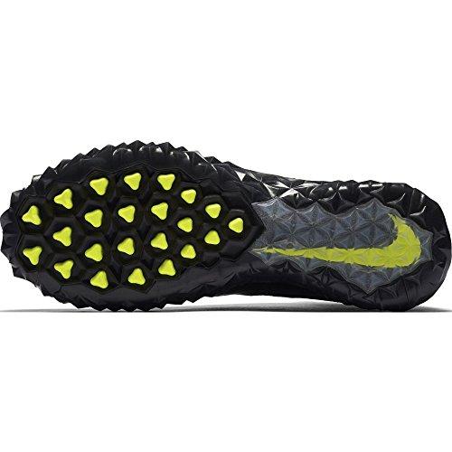 Nike Alpha Sensory Turf Mens Scarpe Da Calcio Nero / Metallico Argento-bianco