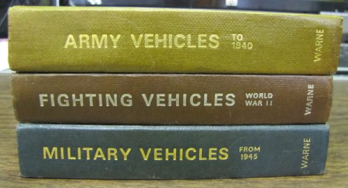 BART H. VANDERVEEN'S: THE OBSERVER'S MILITARY, FIGHTING AND ARMY VEHICLE DIRECTORIES (3 BOOKS)