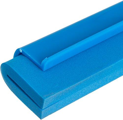 Carlisle 4156814 Spectrum Double Foam Rubber Hygienic Floor Squeegee, 24'' Width, Blue (Case of 6) by Carlisle (Image #3)