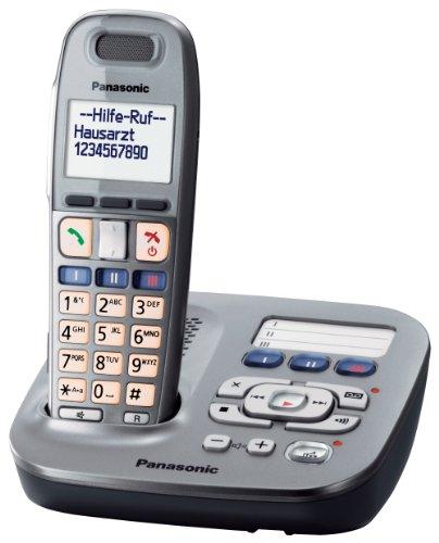 Panasonic KX-TG6591 DECT-Systemtelefon mit AB (SOS-Notruffunktion) graphit