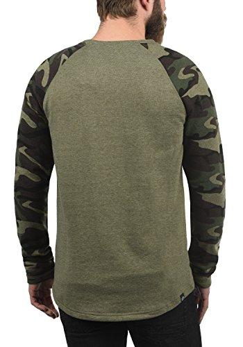 escote Solid de Camiseta 100 algod con Cooper larga de redondo camuflaje manga 7dX8qp