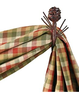 pine cone curtain hook by park designs