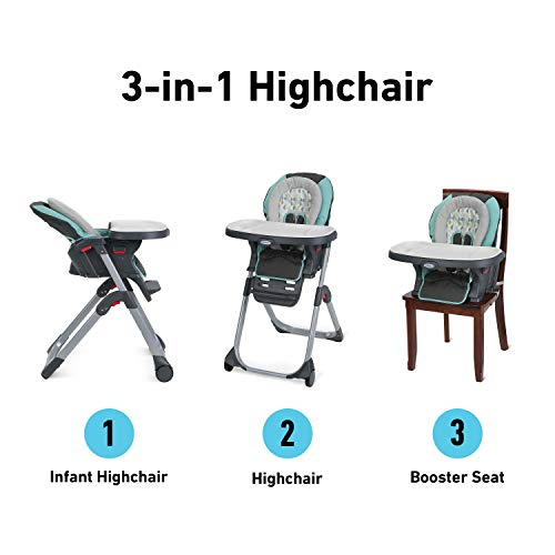 412TlU1splL - Graco DuoDiner LX High Chair, Converts To Dining Booster Seat, Groove