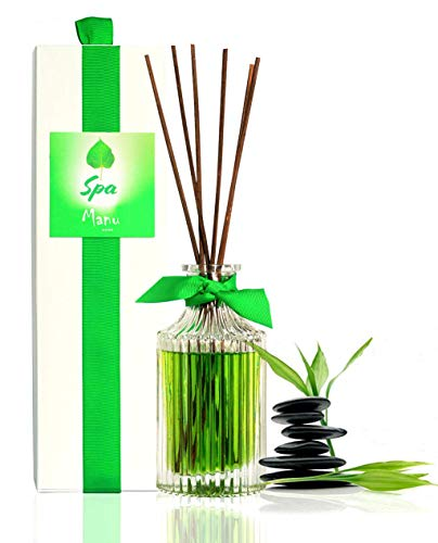 (Manu Home SPA Reed Diffuser Giftset Set | Clean Italian Bergamot, Sparkling Citrus & White Tea Essential Oils | Perfect for Any Room | 6.5oz | Made in USA~)