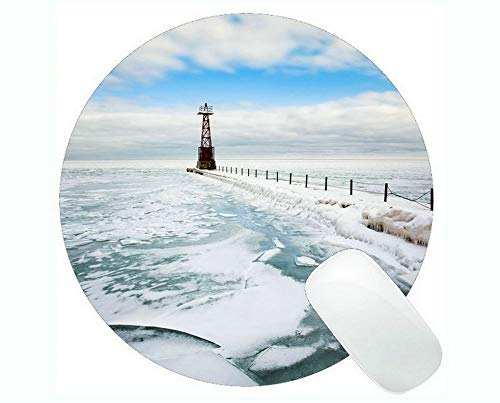 Yanteng Gaming Mouse mats,Lighthouse at Night Gaming Mouse Pads
