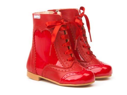 Garantia Para Pascualas Mod Spain 1000 Botas Calzado Calidad Charol Todo Rojo De Infantil In Made Piel Niñas napa q60Bxt