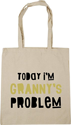 I'm Today Natural HippoWarehouse Beach Shopping 10 x38cm litres Bag 42cm Problem Tote Granny's Gym qZFw5xU