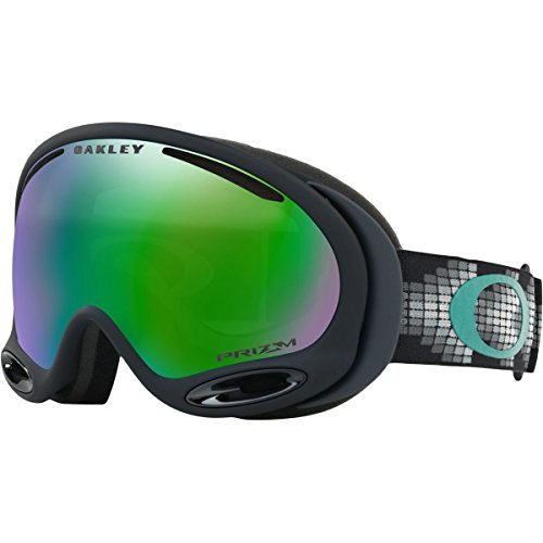 Oakley A-Frame 2.0 Asian Fit Snow Goggles, Matte Black Frame, Prizm Jade Iridium Lens, - Frame Iridium Oakley A Black
