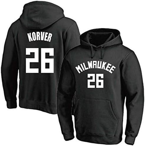 No. 26バスケットボールフーディー、メンズセーター、長袖プルオーバーフーディー、26#スポーツセータージャケット、No。26ファンジャージ、メン
