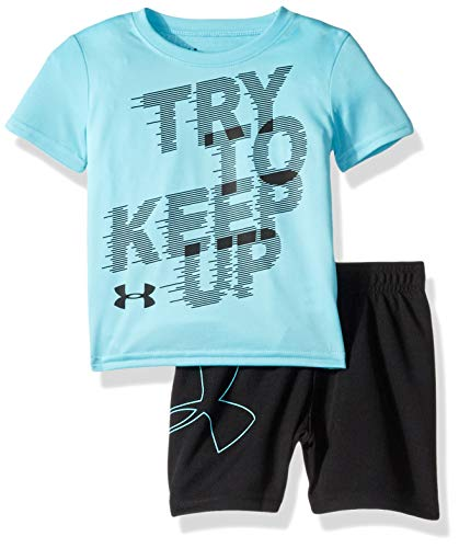 Under Armour Baby Boys Sleeve Bodysuit and Short Set, Surfs Up S191, 24M