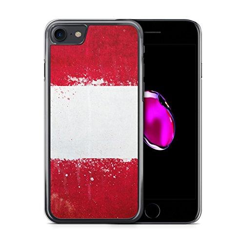 Peru Grunge iPhone 7 Hardcase Hülle Cover Case Schutz Handyhülle Flagge Flag