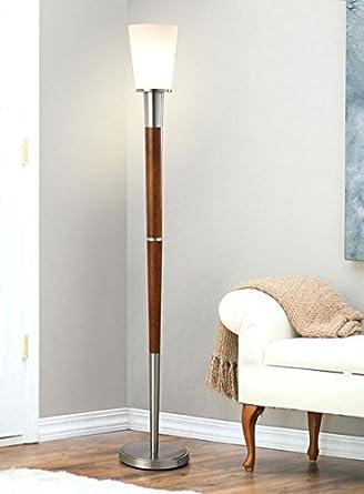 Manhattan 73h Wood Torchiere Floor Lamp Modern Floor Lamp