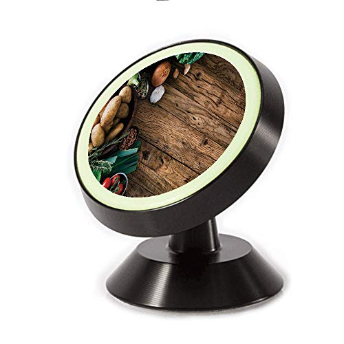 Magnetic Dashboard Cell Phone Car Mount Holder,Table Healthy Options Organic Food Herbs,can be Adjusted 360 Degrees to Rotate,Phone Holder Compatible All ()