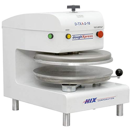 "DoughXpress D-TXA-2-18W Automatic White Powder-Coated, Commercial Air, Dual-Heated Press with 18"" Platens, 120V, 18-3/16"" Width x 25-1/8"" Height x 24-11/16"" Depth"