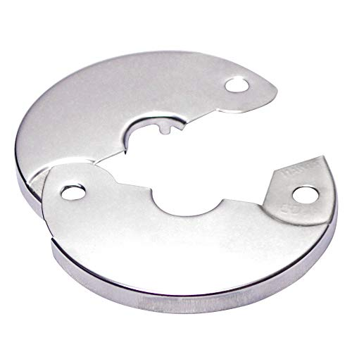 Floor And Ceiling Plate Split Flange Fits 1 2 Inch Copper Pipe Or 3 8 Inch Ips Chrome Finish Pack Of 6