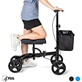 OasisSpace Steerable Knee Walker | Economy Knee Scooter for Foot Injuries Ankles Surgery
