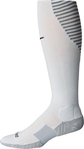 (Nike Matchfit Over-the-Calf Team Socks Pure Platinum/Cool Grey/Black Knee High Socks Shoes)