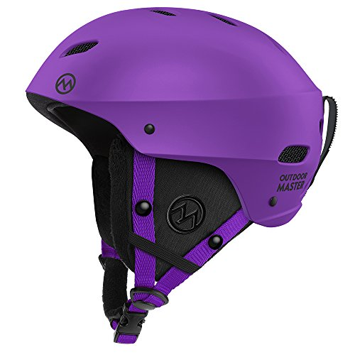 Womens Boots Silver Ski - OutdoorMaster Ski Helmet - with ASTM Certified Safety, 9 Options - for Men, Women & Youth (Purple,L)