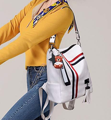 Leather PU Ways Rucksack Ladies Zipper 3 Backpack Fashion Purse Backpack Black Women gpx1aa