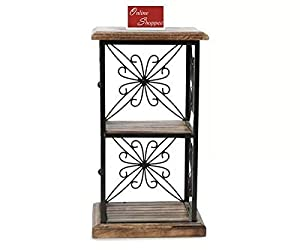 Onlineshoppee Book Shelf Cum End Table with 2 Shelves (Brown)