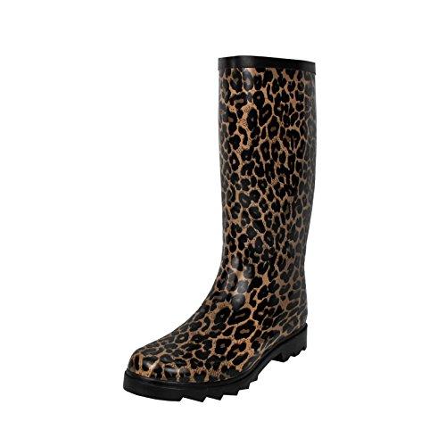 West Blvd Rainboots Rain-Boots, Leopard Rubber, (Leopard Rain Boots)