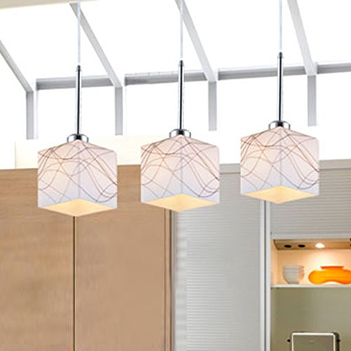 DINGGU™Contemporary Glass Pendant Chandelier Lighting 3 Lights for Island and Kitchen and Dining Room