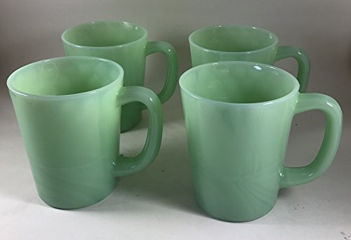 Glass Coffee Mug - USA - American Made - Mosser Glass - (4, Jadeite Green) -