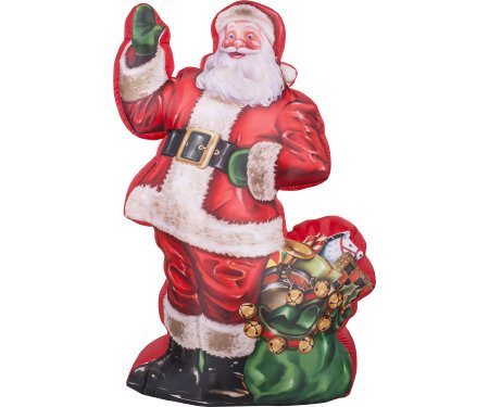 Gemmy Airblown Inflatable Photorealistic Santa Claus Standing Next To a Sack of Presents - Holiday Yard Decorations, 7-foot Tall x over 3.5-foot Wide x 2.5-foot Deep