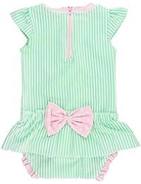 Infant/Toddler Girls Peplum Skirt One Piece Rash Guard...