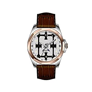 AIMS Christmas gift Mens gold Personalized Unique Fashion Design Waterproof Wrist Watch Black and white abstract pattern wristwatch