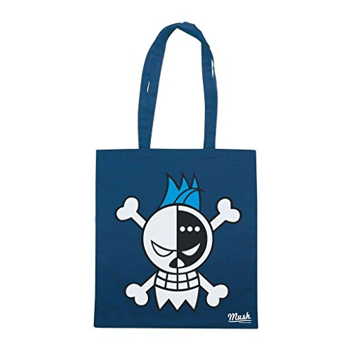 Borsa Franky Logo One Piece - Blu Navy - Cartoon by Mush Dress Your Style