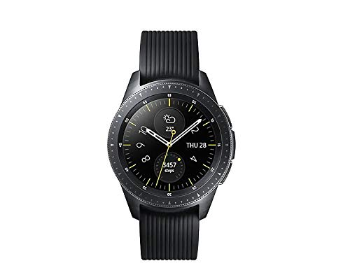 Samsung Galaxy Watch (42mm) Smartwatch (Bluetooth) Android/iOS Compatible -SM-R810 – Intenational Version -No Warranty (Midnight Black)