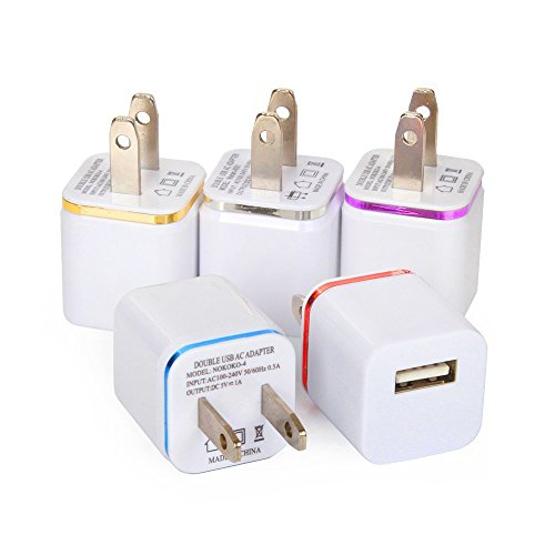 Amazon Lightning Deal 52% claimed: SEGMOI(TM) 5Pack US Plug USB AC Power Charging Adapter Wall Travel Charger For iPhone 5 5S 6 6S 6Plus Samsung Galaxy Note LG NEXUS Tablet Mobile Phone