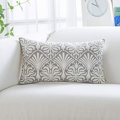 Buy embroidered pillowcase white
