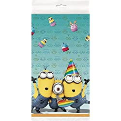 Despicable Me Party Supplies Plastic Tablecloth 54 Inches by 84 Inches