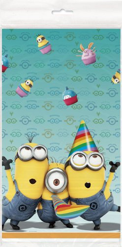 Despicable Me Party Supplies Plastic Tablecloth 54 Inches by 84 -