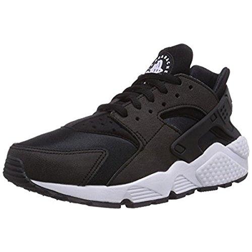 Nike Women's WMNS Air Huarache Run Gymnastics Shoes, Black (Black/White), 4.5 -
