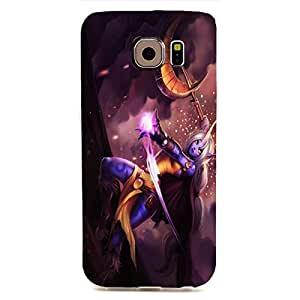 Samsung Galaxy S6 Edge Case 3D LOL 3D League Of Legends Attractive Cool Erogenous Soraka Image Snap-On Back Cover for Cell Phone