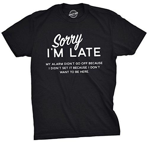 Maglietta Tshirts Sarcastic Dog Tee Divertente Funny Mens I'm Sleeping Uomo Guys For Late Tshirt Crazy Sorry SZx4w