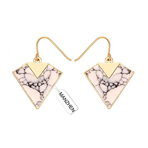 MANZHEN Geometric Earrings Howlite Turquoise product image