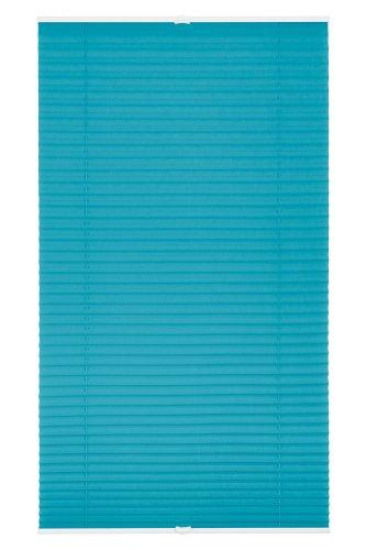 Lichtblick PKV.060.130.09 Plissee Klemmfix, ohne Bohren, verspannt - Blau 60 cm x 130 cm (B x L)