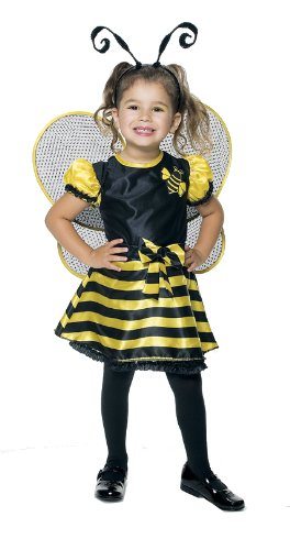 Bumble Bee Toddler With Wings Costume, 2T