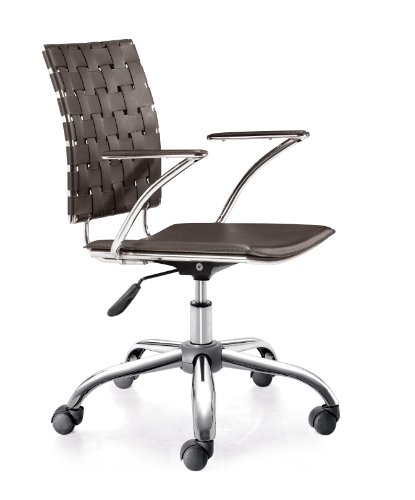Zuo Criss Cross Office Chair, Espresso