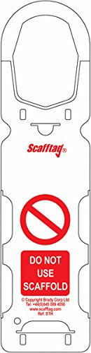 Signs and Labels AMZSCF2SL8 ScaffTag Holders (Pack of 10) Signs & Labels